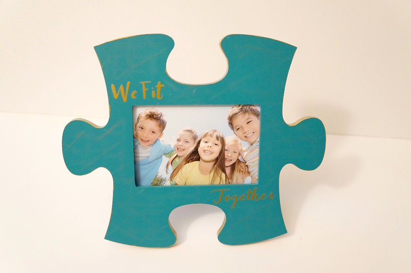 We Fit Puzzle Piece Picture Frame