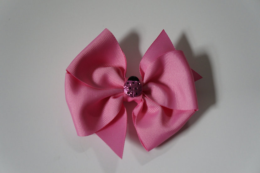 Pink Lady Bug Bow
