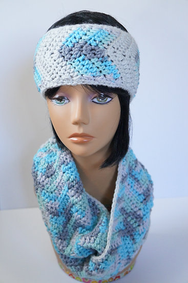 Snow Queen Earwarmer and Scarf Set