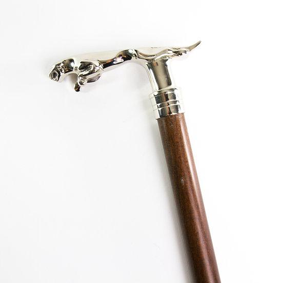 Jaguar Walking Stick - Silver