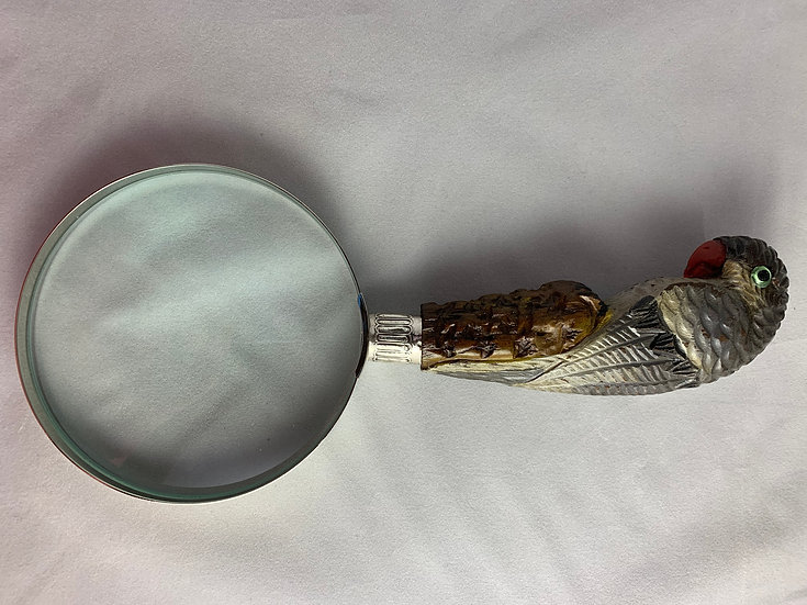 Parrot magnifying glass