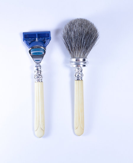 Fusion razor & Badger hair shaving brush