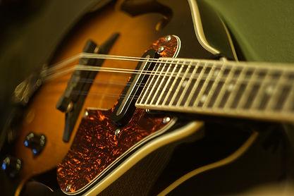 Close up of an Ibanez M510e-BS Mandolin - © Rich Bond