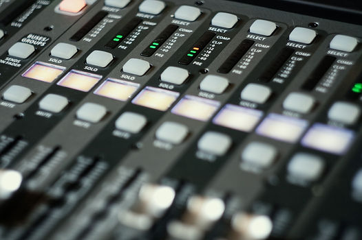 Close up of a behringer X32 Compact