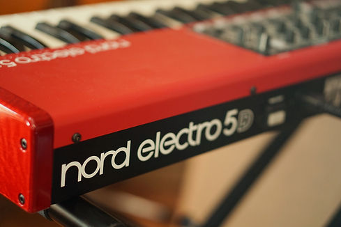 Close up of a Nord Electro 5d 61 Keyboard