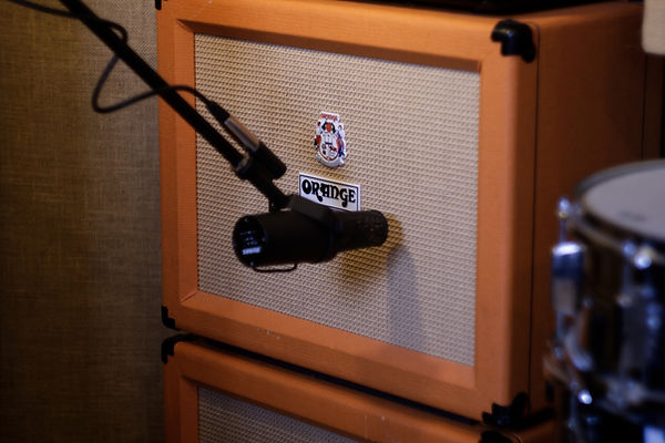 Orange Cab and Shure SM7B at Wise Tree Studios