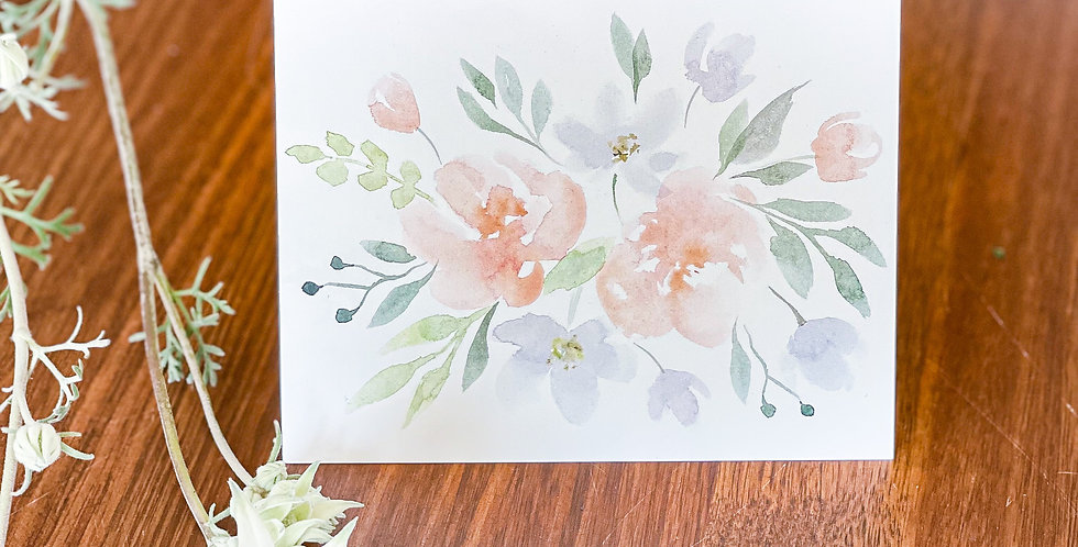 Gift Card - Watercolour Floral