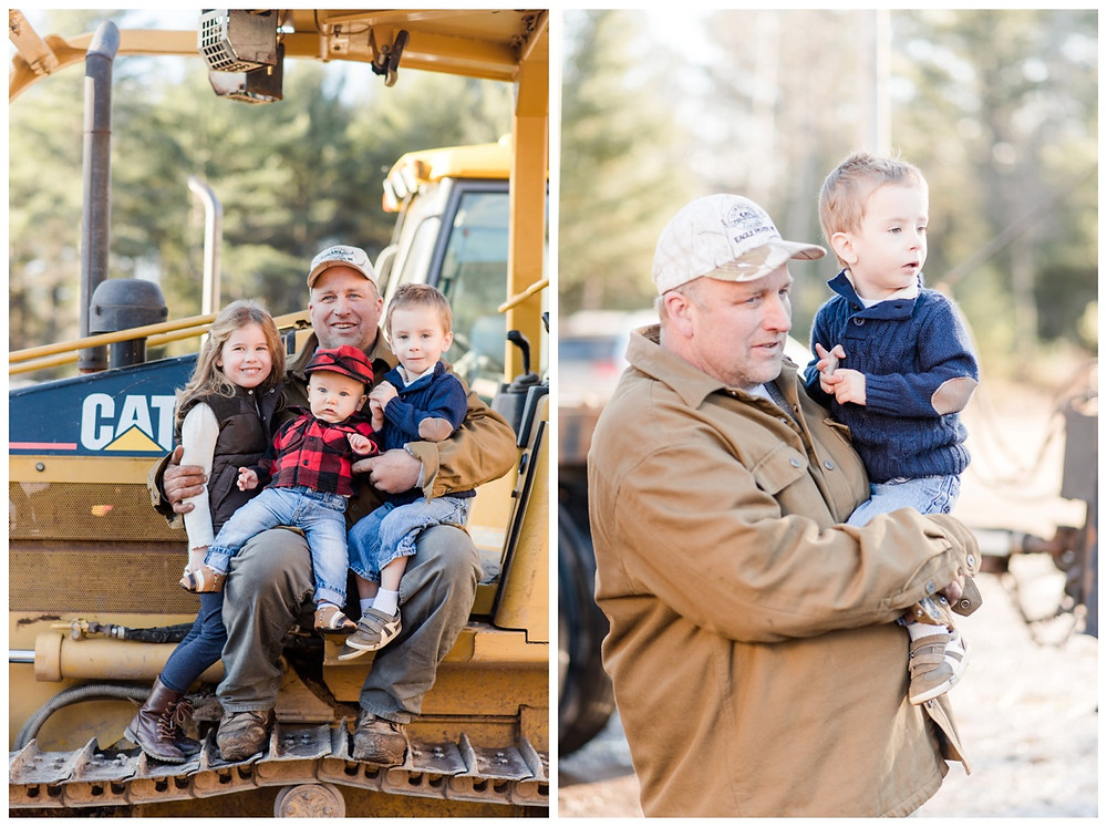 grandpa-with-grandkids-in-bobcat-at-northwoods-lifestyle-session-by-appleton-wedding-photographer-kyra-rane-photography