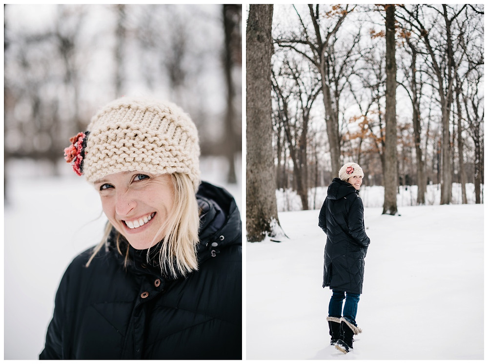 woman-walking-away-from-camera-at-winter-portrait-session-at-pierce-park-by-appleton-wedding-photographer-kyra-rane-photography
