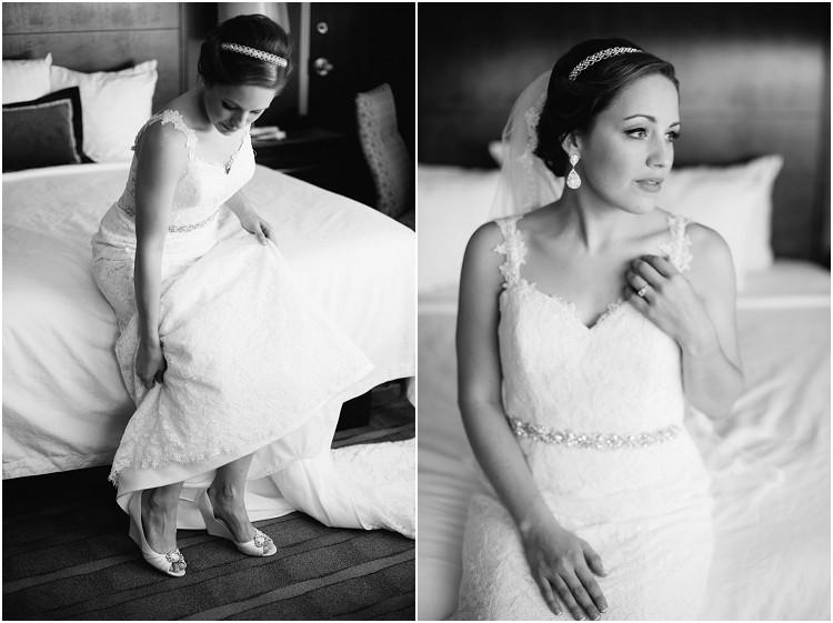 bride-putting-on-wedding-heels-at-best-western-premier-waterfront-hotel-wedding-by-green-bay-wedding-photographer-kyra-rane-photography