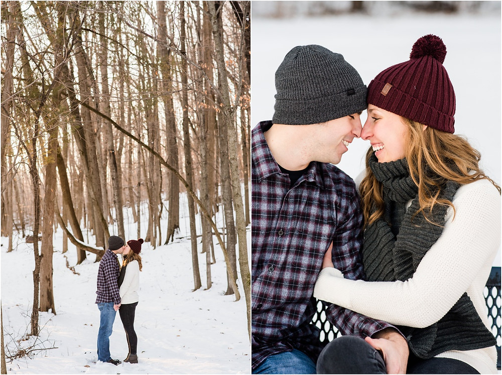 engaged-couple-with-noses-together-smiling-at-pamperin-park-winter-engagement-session-by-milwaukee-wedding-photographer-kyra-rane-photography
