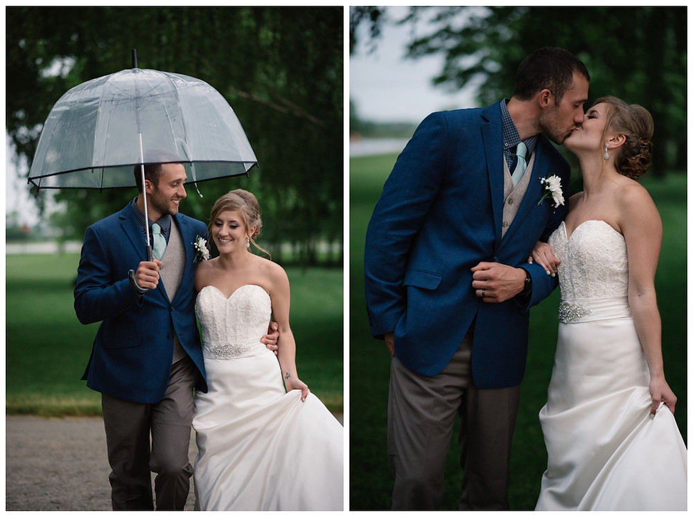 wedding-couple-walking-under-umbrella-at-brighton-acres-wedding-by-appleton-wedding-photographer-kyra-rane-photography