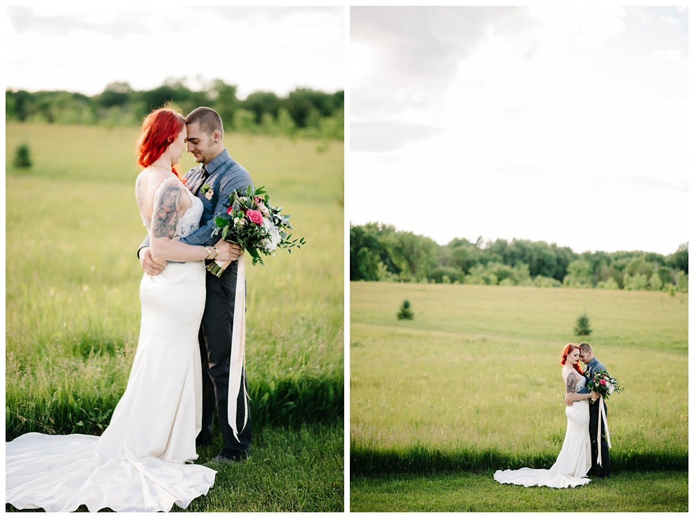 wedding-couple-nuzzled-close-at-homestead-meadows-styled-shoot-by-green-bay-wedding-photographer-kyra-rane-photography