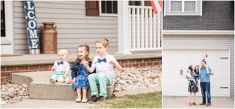siblings-on-front-steps-laughing-at-the-front-porch-series-by-appleton-wedding-photographer-kyra-rane-photography