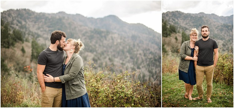 husband-and-wife-smiling-at-camera-at-family-session-in-the-great-smoky-mountains-by-green-bay-wedding-photographer-kyra-rane-photography