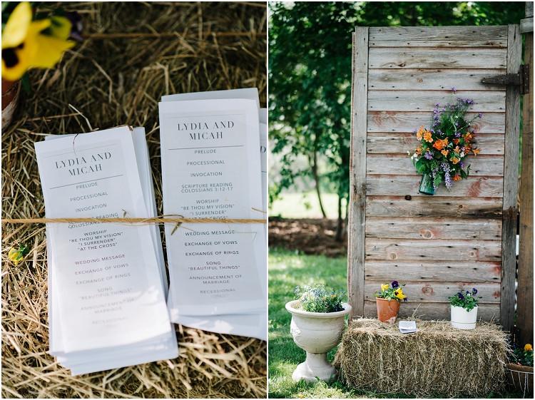 ceremony-programs-at-wisconsin-farm-wedding-by-appleton-wedding-photographer-kyra-rane-photography