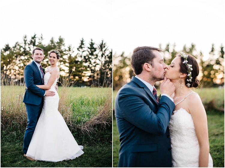 wedding-couple-smiling-at-sunset-at-barnsite-retreat-and-events-wedding-by-appleton-wedding-photographer-kyra-rane-photography