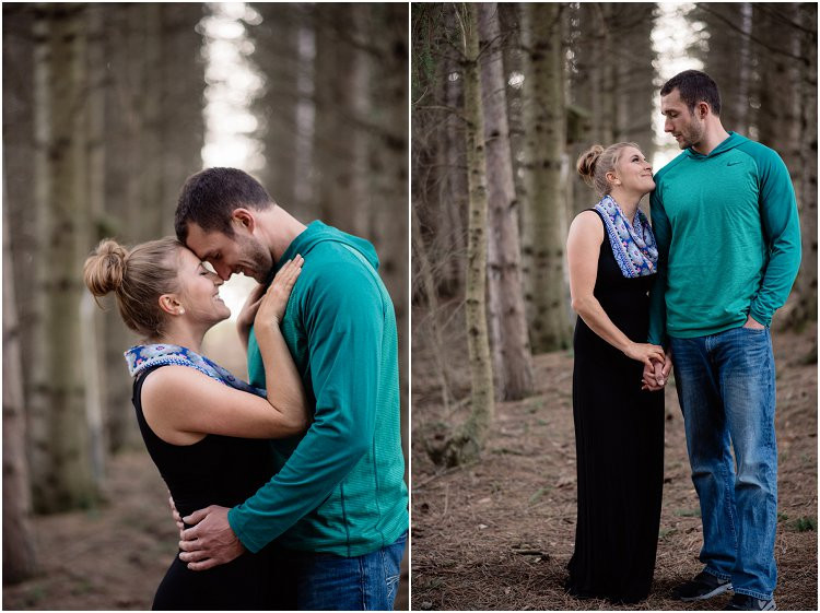 engaged-couple-laughing-under-the-trees-at-hortonville-engagement-session-by-green-bay-wedding-photographer-kyra-rane-photography
