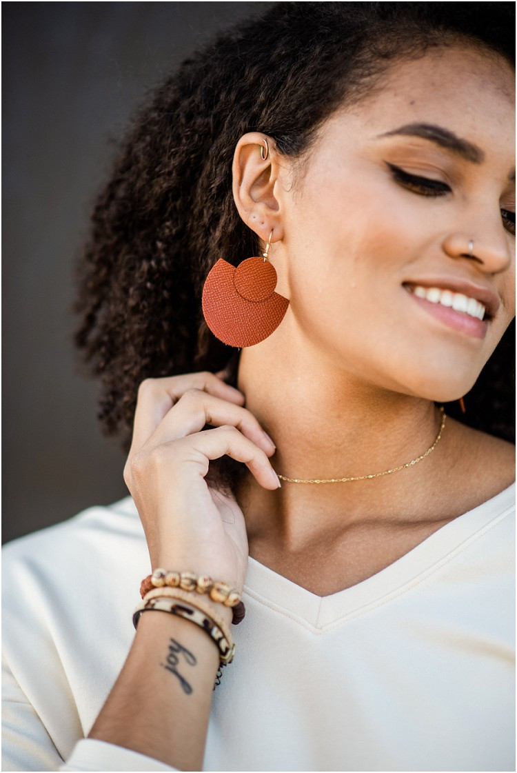 orange-leather-earrings-at-ethical-fashion-styled-shoot-by-green-bay-wedding-photographer-kyra-rane-photography