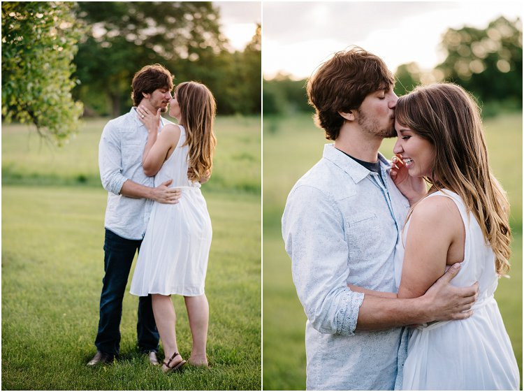 engaged-couple-kissing-at-sunset-at-homestead-meadows-styled-shoot-by-appleton-wedding-photographer-kyra-rane-photography