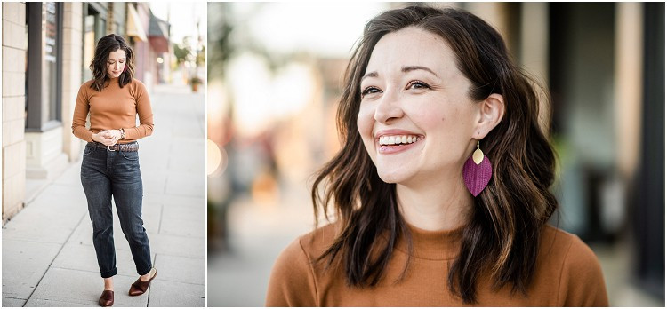 purple-leather-earrings-at-ethical-fashion-styled-shoot-by-milwaukee-wedding-photographer-kyra-rane-photography
