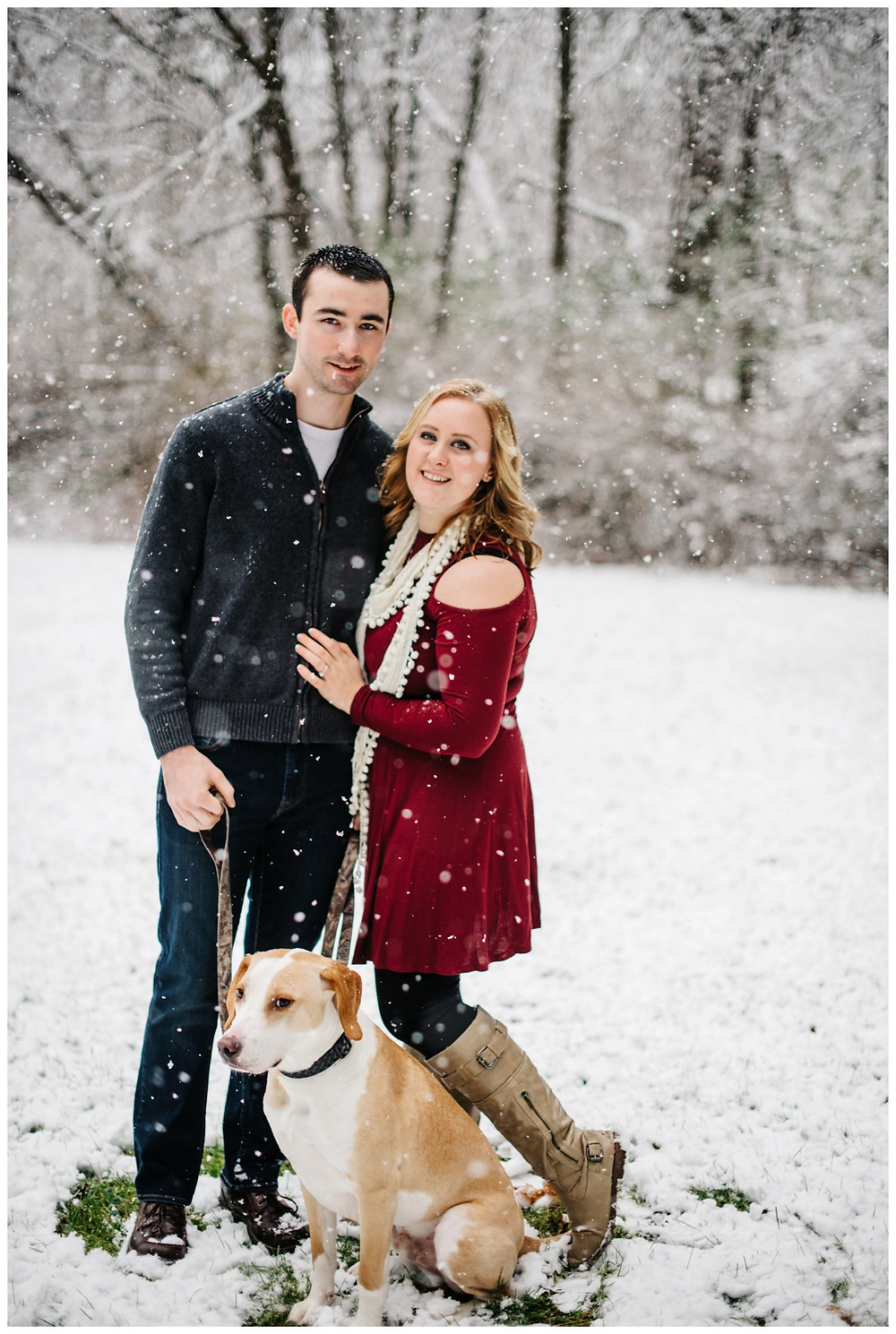engaged-couple-with-pup-at-snowy-sheboygan-engagement-session-by-appleton-wedding-photographer-kyra-rane-photography