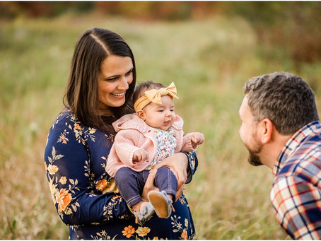 Baby Lucy   Fall Family Session at Plamann Park