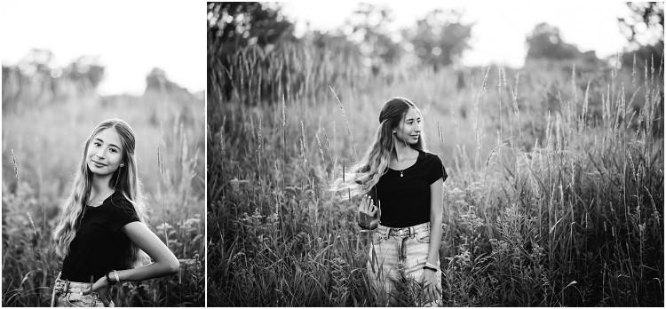 senior-flipping-hair-at-senior-session-at-plamann-park-by-green-bay-wedding-photographer-kyra-rane-photography