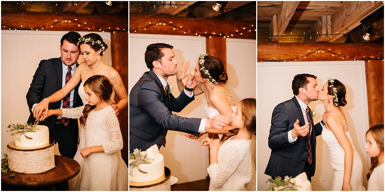 wedding-couple-cutting-cake-at-barnsite-retreat-and-events-wedding-by-green-bay-wedding-photographer-kyra-rane-photography