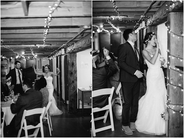 wedding-couple-grand-entrance-at-barnsite-retreat-and-events-wedding-by-green-bay-wedding-photographer-kyra-rane-photography