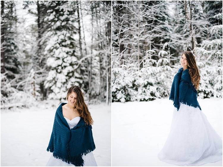 winter-bride-wrapped-in-shawl-at-wisconsin-winter-bridal-portraits-by-green-bay-wedding-photographer-kyra-rane-photography