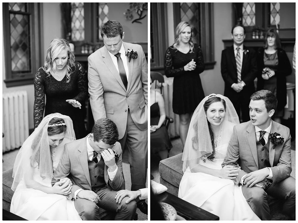 bridea-and-groom-praying-together-at-milwaukee-wedding-by-appleton-wedding-photographer-kyra-rane-photographer