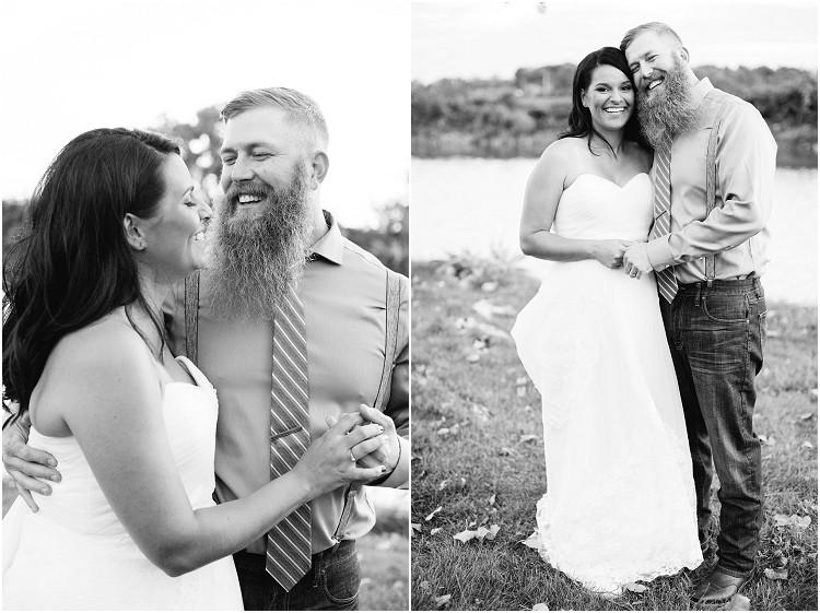 wedding-couple-laughing-at-little-chute-waterfront-wedding-by-appleton-wedding-photographer-kyra-rane-photography