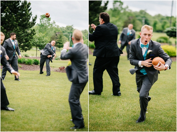 groomsmen-playing-football-at-olde-41-wedding-by-green-bay-wedding-photographer-kyra-rane-photography