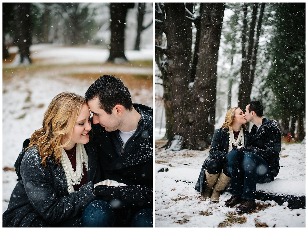 engaged-couple-with-foreheads-together-at-snowy-sheboygan-engagement-session-by-appleton-wedding-photographer-kyra-rane-photography