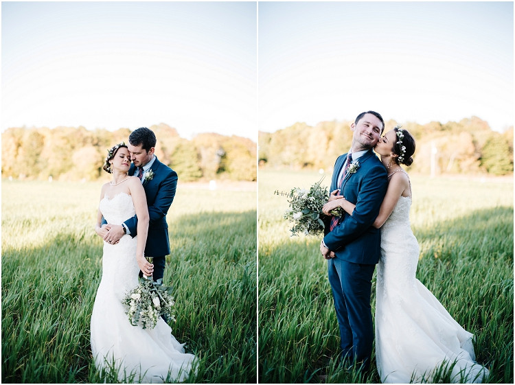 bride-kissing-groom-on-cheek-at-barnsite-retreat-and-events-wedding-by-appleton-wedding-photographer-kyra-rane-photography