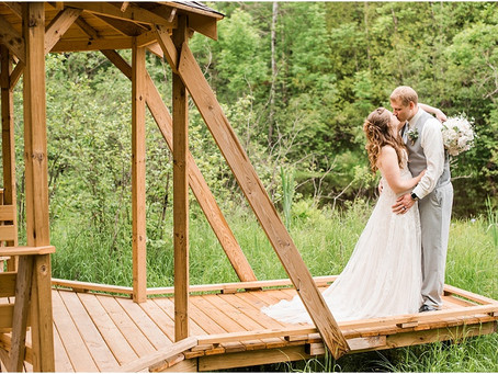 Andrew + Karly   Rustic River Wedding