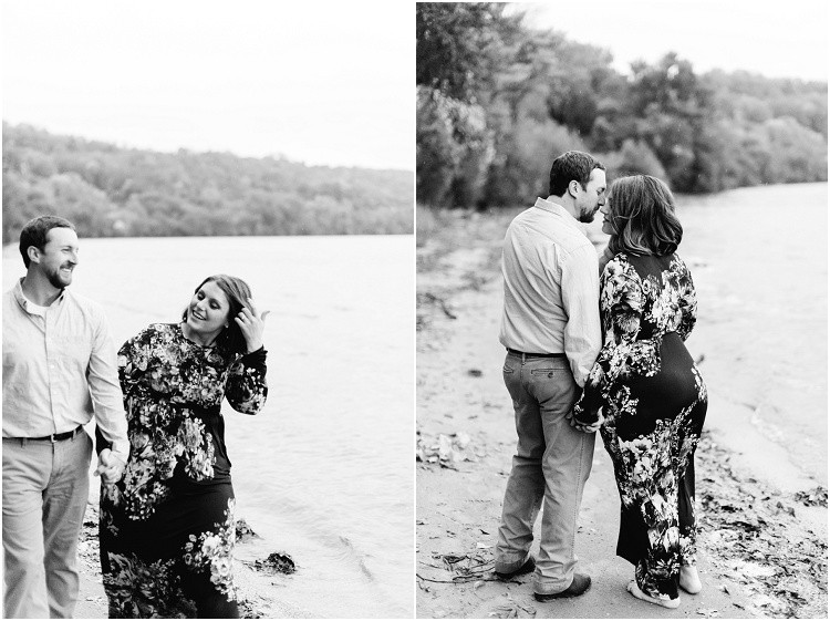 engaged-couple-walk-away-on-beach-at-high-cliff-engagement-session-by-milwaukee-wedding-photographer-kyra-rane-photography