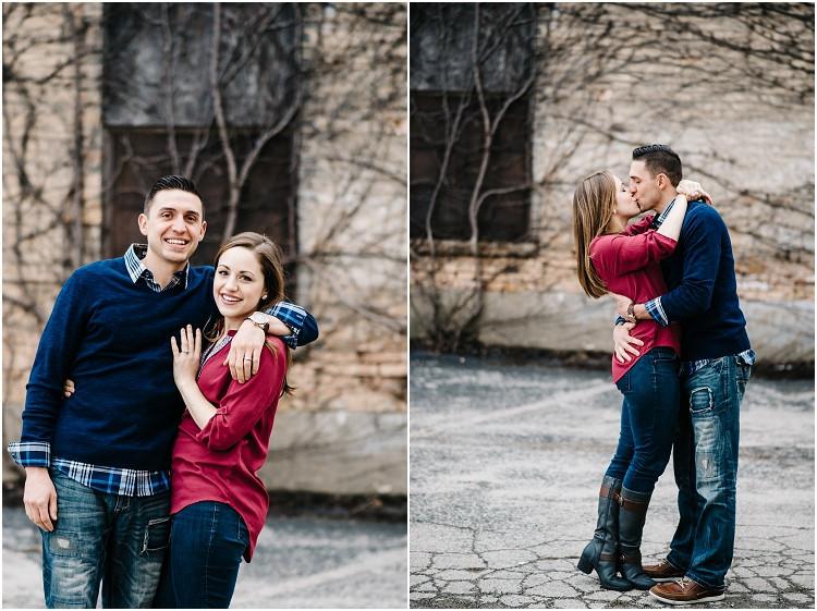 couple-sharing-kiss-at-appleton-engagement-session-by-milwaukee-wedding-photographer-kyra-rane-photography