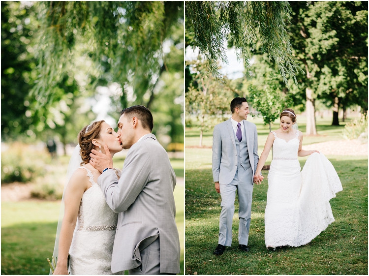 wedding-couple-walking-and-smiling-at-best-western-premier-waterfront-hotel-wedding-by-appleton-wedding-photographer-kyra-rane-photography