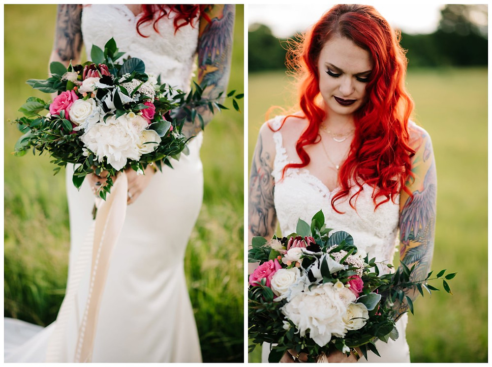 bride-with-wedding-bouquet-at-homestead-meadows-styled-shoot-by-milwaukee-wedding-photographer-kyra-rane-photography
