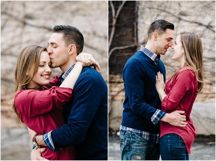 man-kissing-fiances-temple-at-appleton-engagement-session-by-appleton-wedding-photographer-kyra-rane-photography