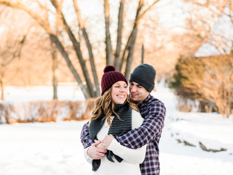 Christian + Jenee | Pamperin Park Winter Engagement Session