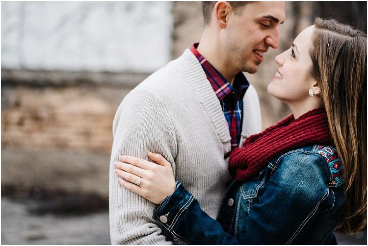 fiance-gazing-into-eyes-at-appleton-engagement-session-by-milwaukee-wedding-photographer-kyra-rane-photography