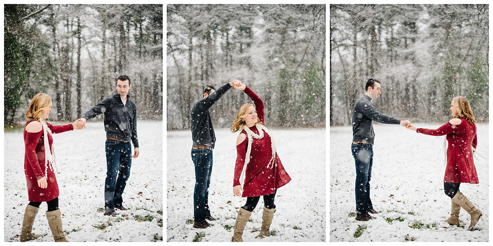 engaged-couple-dancing-in-snow-at-snowy-sheboygan-engagement-session-by-appleton-wedding-photographer-kyra-rane-photography