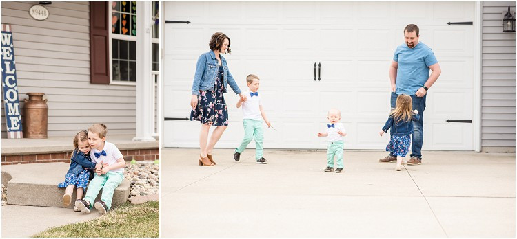 family-in-front-of-garage-at-the-front-porch-series-by-appleton-wedding-photographer-kyra-rane-photography