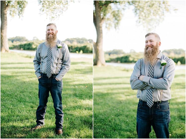 groom-with-beard-at-little-chute-waterfront-wedding-by-green-bay-wedding-photographer-kyra-rane-photography