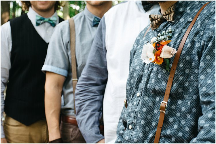 boho-groom-and-groomsmen-with-suspenders-and-bow-ties-at-july-4th-elopement-by-green-bay-wedding-photographer-kyra-rane-photography