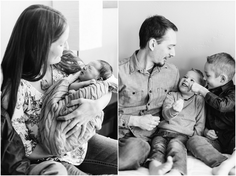 dad-talking-to-sons-at-cozy-newborn-session-by-milwaukee-wedding-photographer-kyra-rane-photography