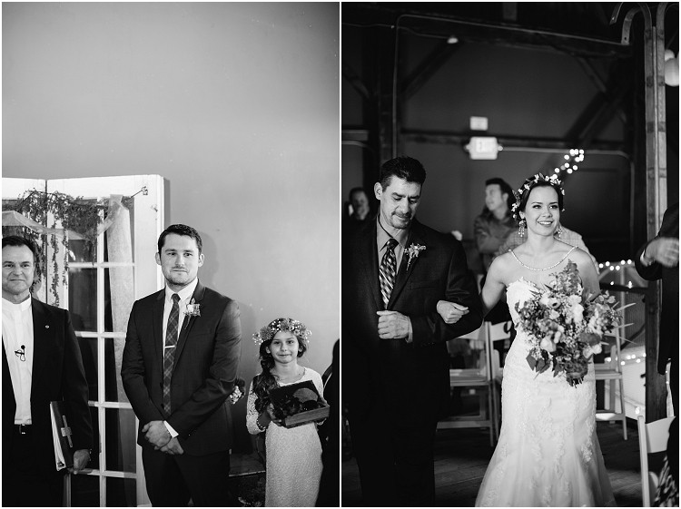 groom-watching-bride-walking-down-the-aisle-at-barnsite-retreat-and-events-wedding-by-appleton-wedding-photographer-kyra-rane-photography